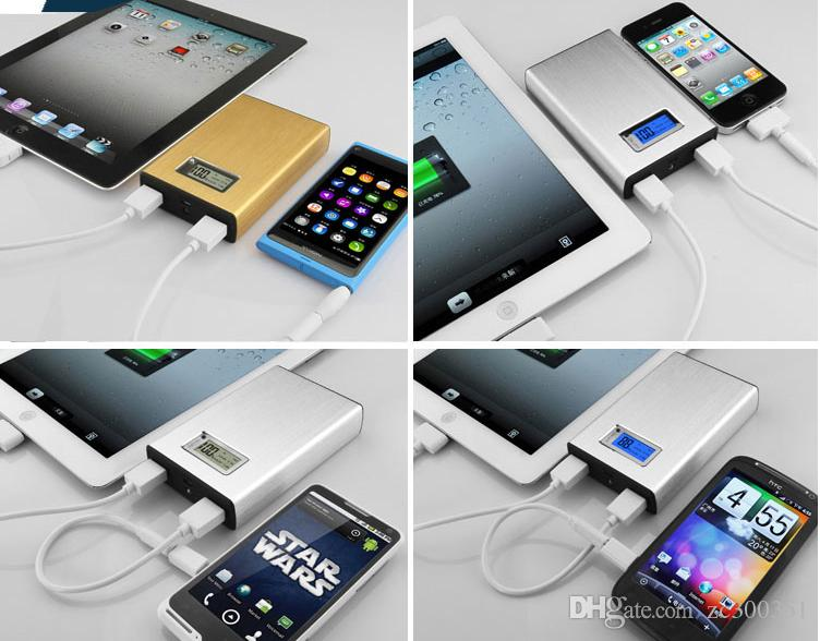 20000mAh 50000M li-ion battery for tablet Power Bank Universal USB External Backup Emergency Battery Charger for phone/tablet