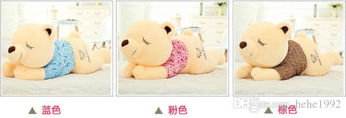 2016Teddy bear doll cuddly teddy bear large doll girl bear lie prone to lie prone bear doll birthday gift free shipping