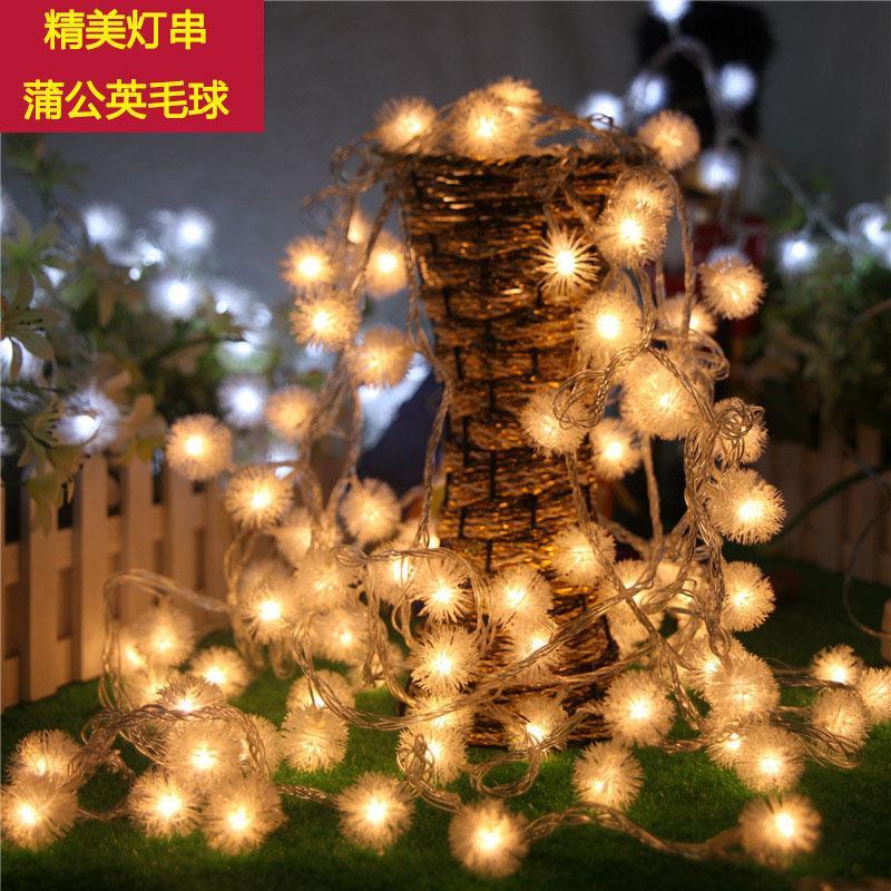 Solar Powered Light-Sensitive Christmas Decoration Lights 20 LED Solar Light String Chuzzle Ball Solar Fairy LED String Lights