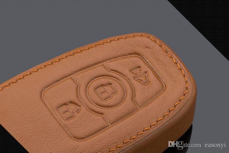 2014 KIA Sportage Chaveiro de Couro Genuíno Chave Fob Caso Capa para 2009-2046 2014 2015 Sportage Chaveiro Acessórios Do Carro