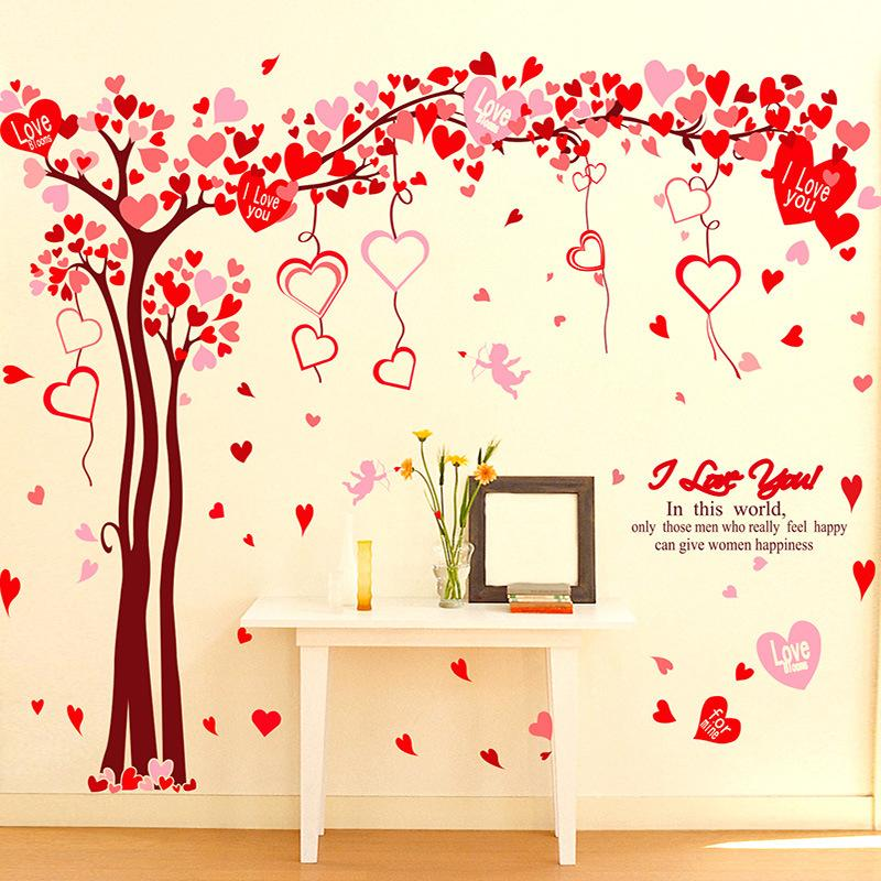 Valentines Day Love Tree Decorative Wall Stickers Bedroom