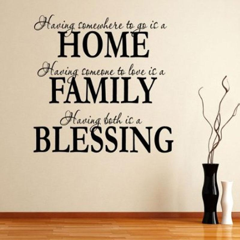 Alphabet Letter Stickers Home Family Blessing Quote Removable Art Mural Decor Vinyl Wall Sticker Large Decal From