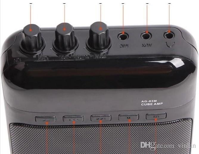 Portable Multifunction Mini 5V 3W Electric Guitar Amplifier Guitar Parts Guitar Amp Recorder Speaker musical instruments