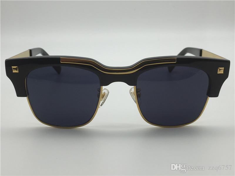b8dc6a17da New Designer Sunglasses Semi-rimless Sunglasses Gold Plated Men Eyewear 427  with Original Case UV400 Protection Lens Designer Sunglasses Sunglasses for  Men ...
