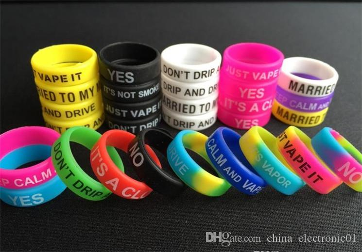 Silicone Vape Bands Anti Slip For Non-Slip Mechanical Mod Rubber Band Silicone Glow in the Sun & Dark Rings Ego