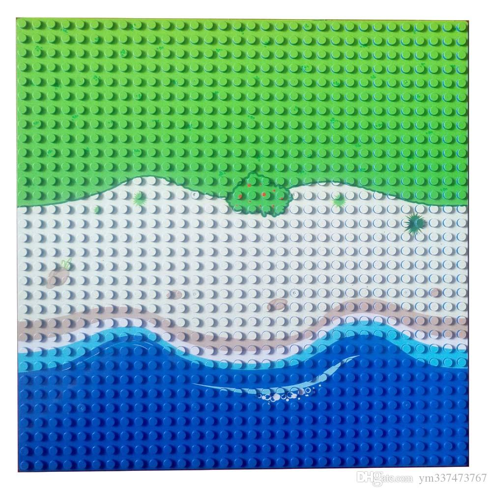 10x10 inch Sea Island Baseplate 32x32 Small Dot Building Block Seabeach Base Plate Long Beach