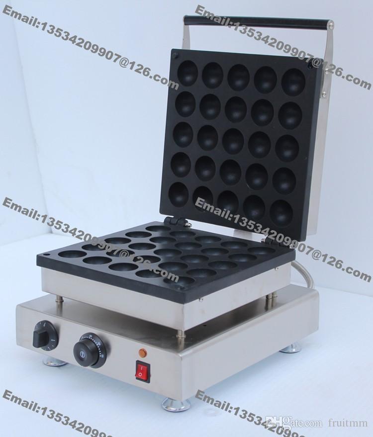 Envío gratis 25 unids uso comercial antiadherente 110 v 220 v eléctrico 5 cm bolas del buñuelo máquina fabricante Baker hierro