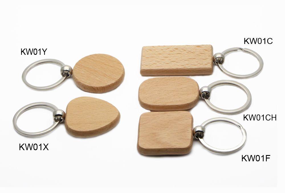 100倍の空白の木製のキーホルダーサークル1.25 ''キーホルダーKW01Y送料無料