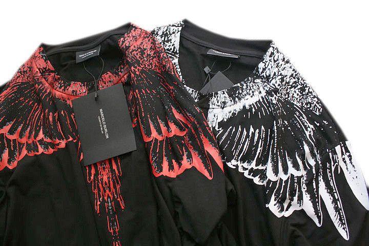 Ss yeni Marcelo Burlon Tişört Erkekler Milan Tüy Kanatları T Gömlek Erkek Kadın Çift Defile RODEO DERGISI T Shirt Goros camisetas