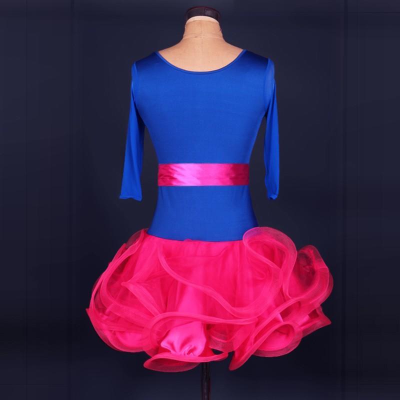 2018 Latin Dance Dress Donna / Ragazza Roupa Infantil Feminina Abbigliamento fitness Lady / Bambini Costumi di danza Cha Cha / Rumba / Samba / Abbigliamento da ballo