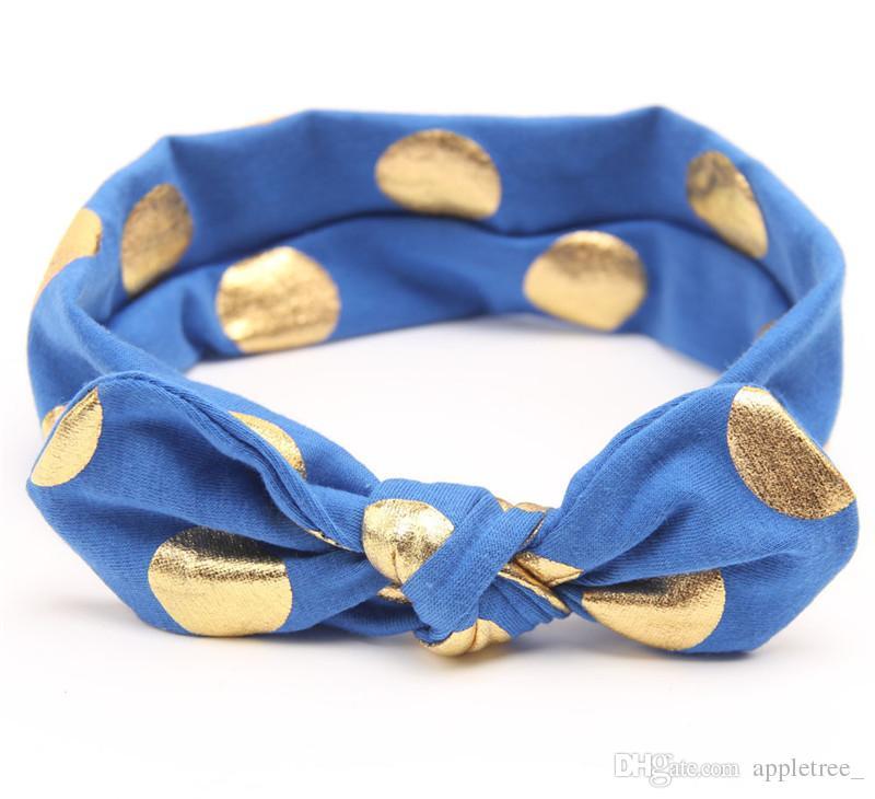 Kids Headband Knot Baby polka dot Diademas Niñas Head band Niños Headwrap infantil Head wrap Hairband Cintas para el cabello accesorios para el cabello nuevo