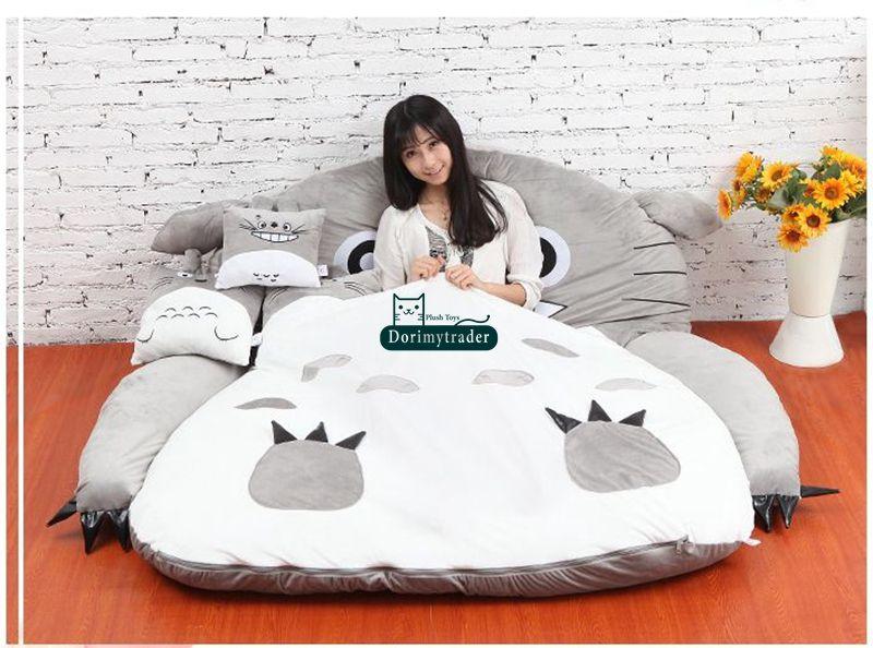 Dorimytrader Hot Japan Anime Totoro Sleeping Bag Cover Big Plush Soft Carpet Mattress Bed Sofa Tatami Gift without cotton DY61067