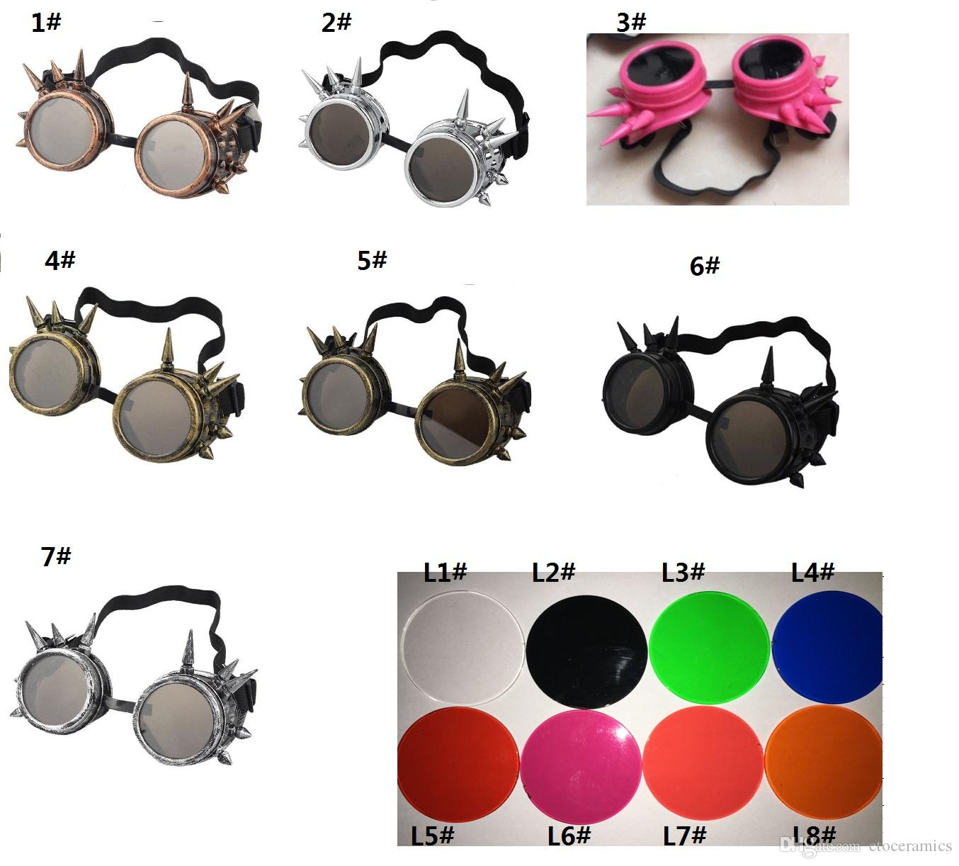 Vintage Victorian Steampunk Goggle Glasses Welding Cyber Punk Gothic Cosplay Sunglasses