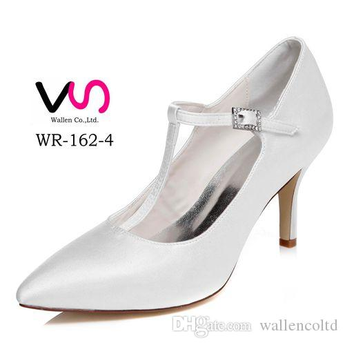 Plain Ivory Color Pump Pointy Toe Elegant Style Bridal Shoe Wedding Dress Shoes Handmade For From Size35 Size 35 Wholesale 2 Inch