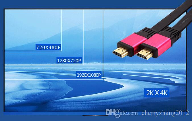 أعلى جودة FLAT HDMI 2.0 4K 30AWG HD 18 جيجابت في الثانية الصوت العودة إيثرنت كابل HDMI 1M 1.5M 1.8M دعم HD 1080P 1440p 2x1080p 2160p
