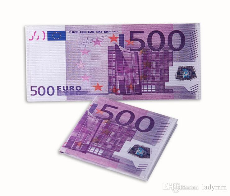 100 Teile / los Verschiedene Länder Gedruckt Kreatives Geld Euro Pfund Brieftasche Mode Dollar Geldbörse Brieftasche Kartenhalter Kinder Kinder Geschenk Geschenke