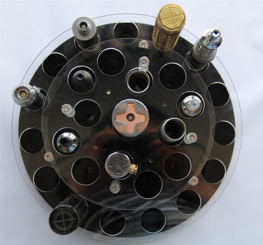 Doppelschicht-freier Plattenspieler Vape E Cig-Ausstellungsstand-Acrylschaukasten für RDA RBA Behälter-Zerstäuber-mechanische Mods-Batterie-Installationssätze 27 hält DHL an