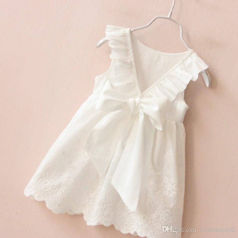Cheapest noble Princess dress summer children lace Waves tulle tutu dress girls white party dress brand children clothing wholesale