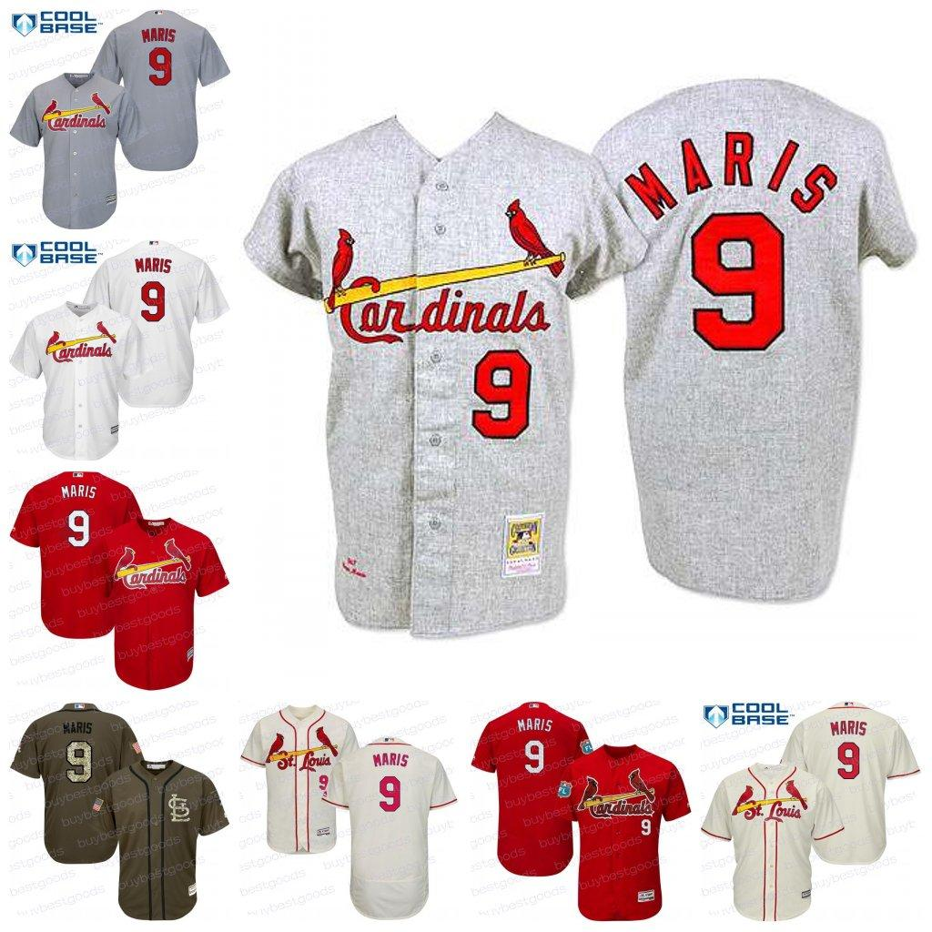 newest d577f b0d4c mlb jerseys st louis cardinals 9 roger maris authentic 1967 ...
