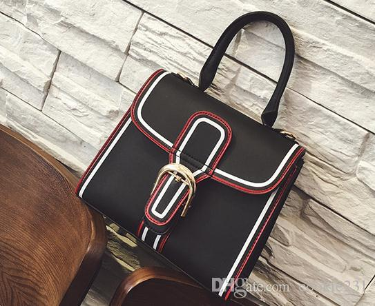 New Design Classic style women leather shoulder bags Ladies briefcase fashion handbag simple business cross body bags for women