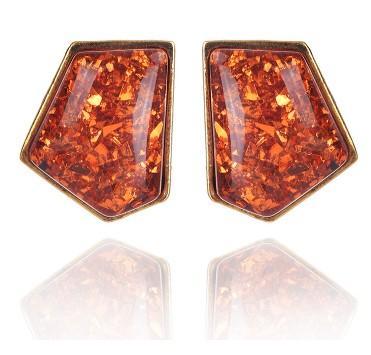 Extravagante Halskette Ohrring Set Womens Geometrische Gefälschte Edelstein Rot Multi Color Choker Chunky Erklärung Anhänger Bib Schmuck-Set