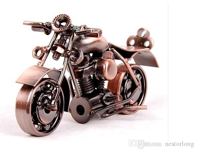 2016 hot sale new handmade wrought iron motorcycle model creative desktop furnishing articles boy likes gifts