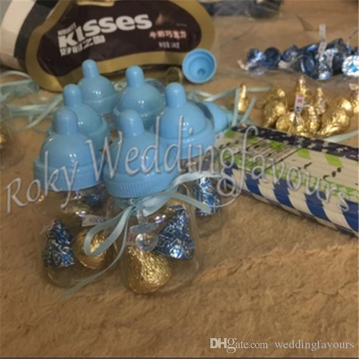 Feeding Bottles Candy Boxes with Ribbon N Pacifier Charm Baby Shower Party Favors Birthday Table Setting Ideas