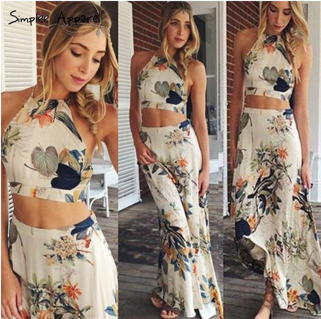 737bcd17bf6cb Beach Dresses Holiday Dresses Women Crop Top Midi Skirt Set Summer Holiday  Beach Sexy Skirts Trendy Two Pieces Dresses Dresses For Womens One Shoulder  Dress ...