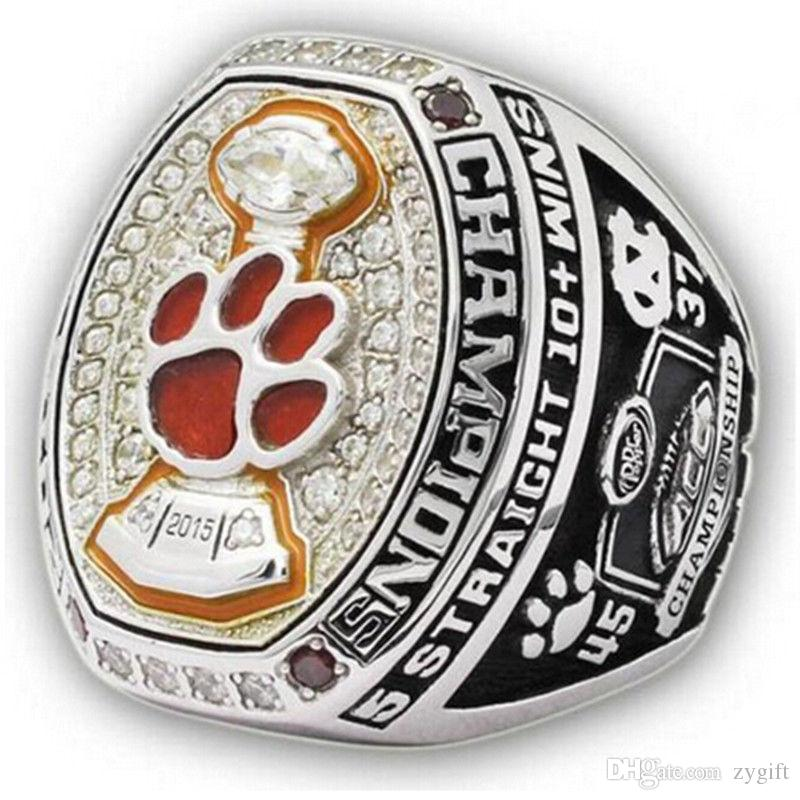 championship clemson s russell tigers college bowl custom ring rings football men