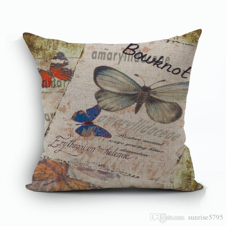beautiful butterfly cushion cover shabby chic home decor vintage cojines nordic decoration almofadas for home office sofa chair