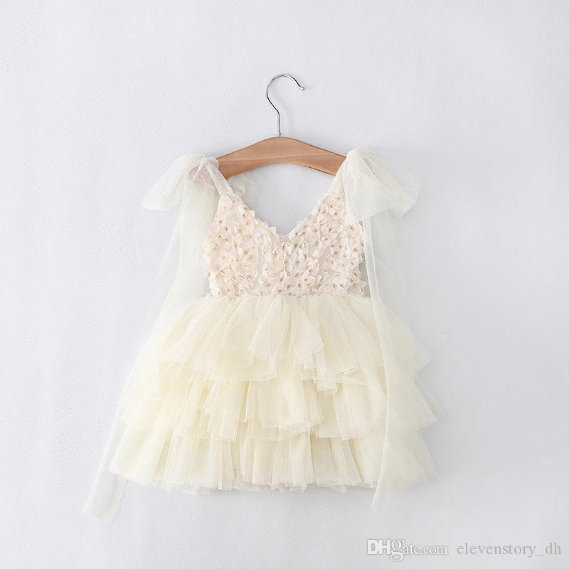 아기 여자 1 오년 여름 걸이 얇은 명주 그물 드레스, 어린이 드레스, 아이 부티크 투투 슬링 의류, R1ES505DS-55