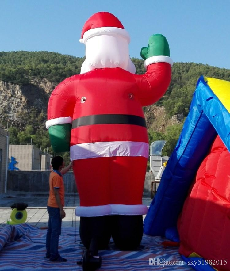 Outdoor decoration 5M giant Christmas inflatable Santa wiith air blower