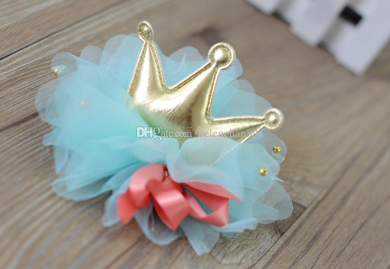 Wholesale Fashion Dog Crown Clipper Hair Ornament Pets Hari Clippers Accessories with Lace Drop Shipping Random Delivery