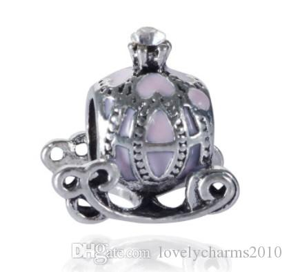 26b9bf2f3 Fits Pandora Bracelets Princess Pumpkin Car Enamel Silver Charms Bead Charm  Beads For Wholesale Diy European Sterling Necklace Jewelry Silver Charms  Beads ...