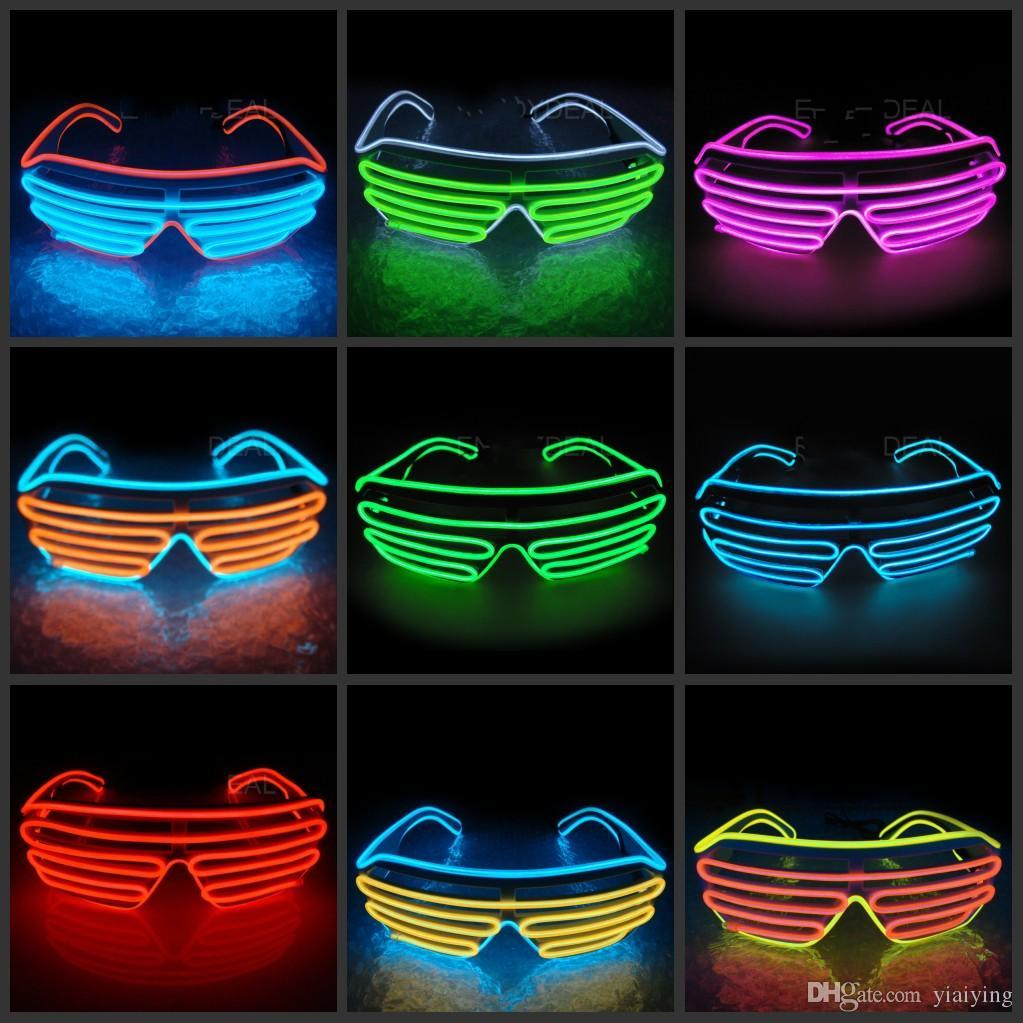 66e4629bf60e Simple El Glasses El Wire Fashion Neon LED Light Glow Sun Glasses Rave  Costume Party DJ Bright SunGlasses Online with  16.77 Piece on Yiaiying s  Store ...