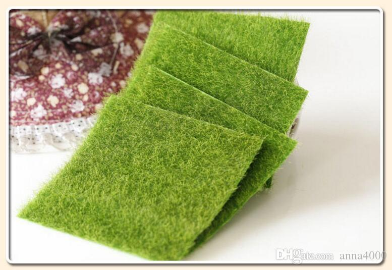 erba artificiale prato 15 * 15cm fata giardino in miniatura gnome moss terrario arredamento resina artigianato bonsai home decor fai da te Zakka