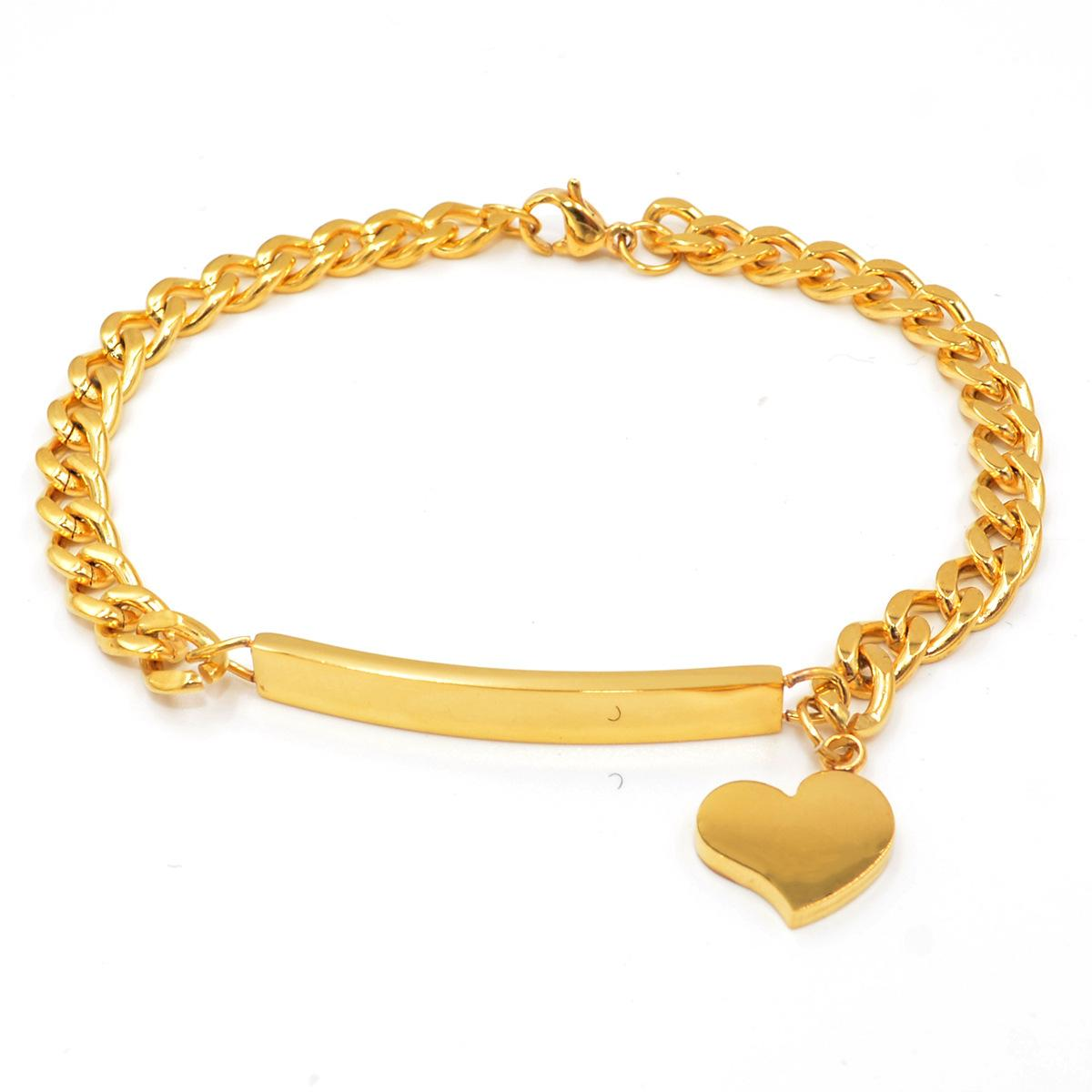 design for c womens tone bracelets women jewellery qgbr gold two italian link in bracelet