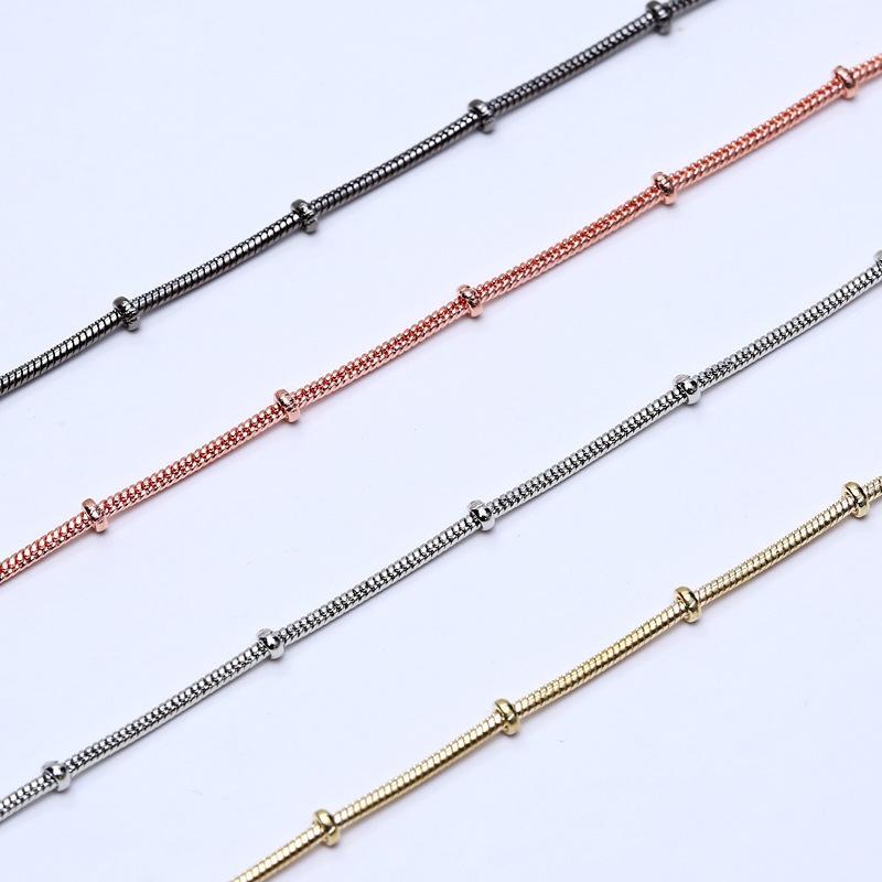 Chaud 24 pouces 1.2mm Chaîne Serpent Chaînes Collier Or Rose / Or / Argent / Noir Bijoux De Mode Colliers Chaîne Plaine Chaîne Accessoires Bijoux Bijoux Free DHL
