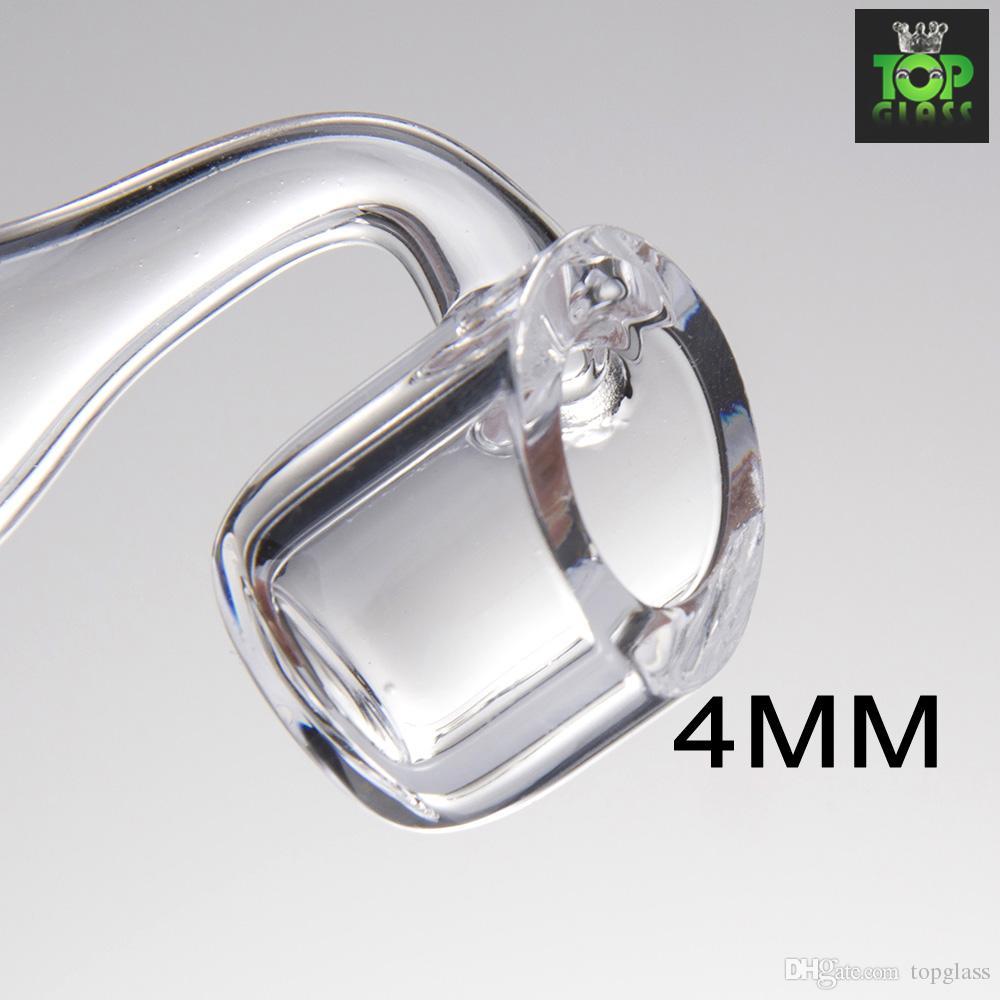 4mm dick club banger domeless quarz nagel 10mm 14mm 18mm männlich weiblich 90 Grad 100% echt Quarz Banger Nägel freies verschiffen