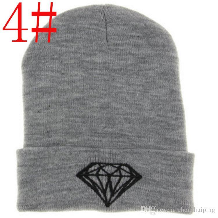 ¡Promoción! sombreros de la nueva llegada de moda marca DIAMANTE Beanie Hat fútbol Skullies lana zen estilo invierno cálido gorro de punto