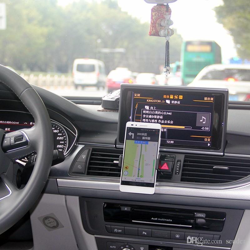 Soporte para teléfono pie de apoyo universal para coche montaje de la salida de aire del coche 360 Girar el soporte ajustable para Sticky GPS del teléfono celular del teléfono del coche del soporte del Outlet
