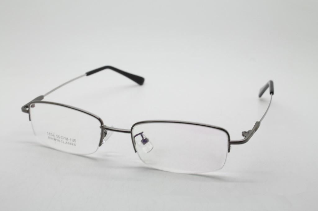 New Men Half Frame Glasses Frames Metal Eyeglasses Women Semi ...
