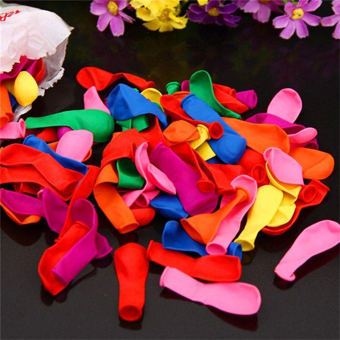 120 قطع + 120 المطاط + 1 أداة بالونات صغيرة البولو المياه جولة متعدد الألوان اللاتكس بالون حفل زفاف الصيف في الهواء الطلق متعة لعبة البالونات