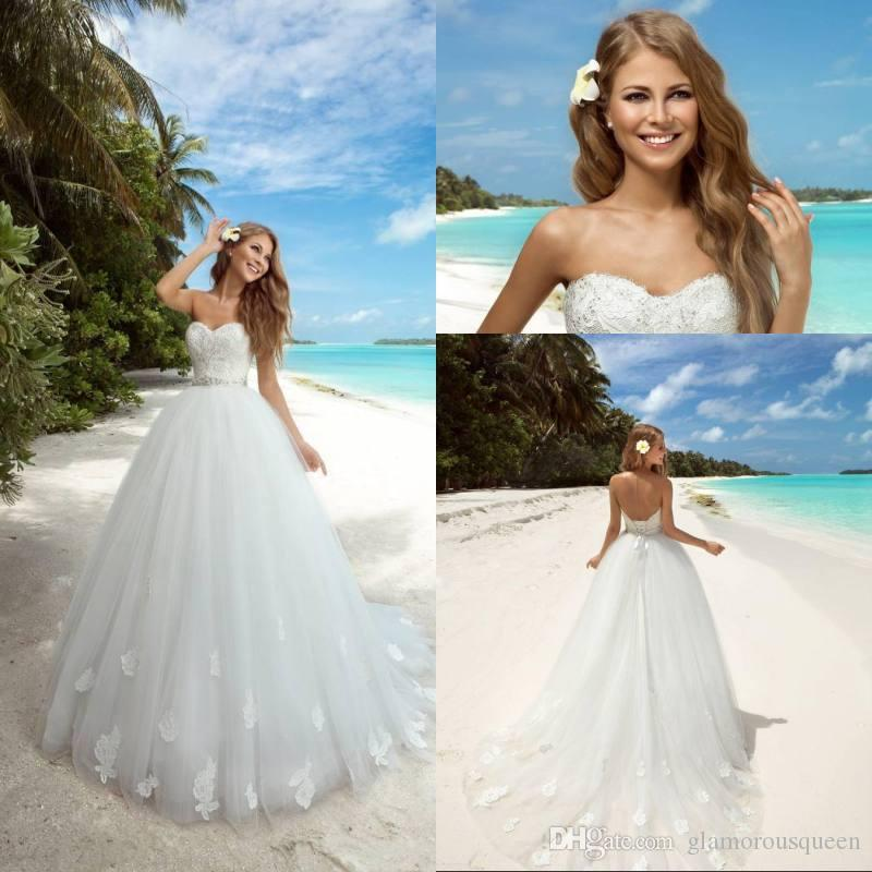 Princess wedding dress 2017 lace ball gowns wedding for Beach wedding dresses 2017