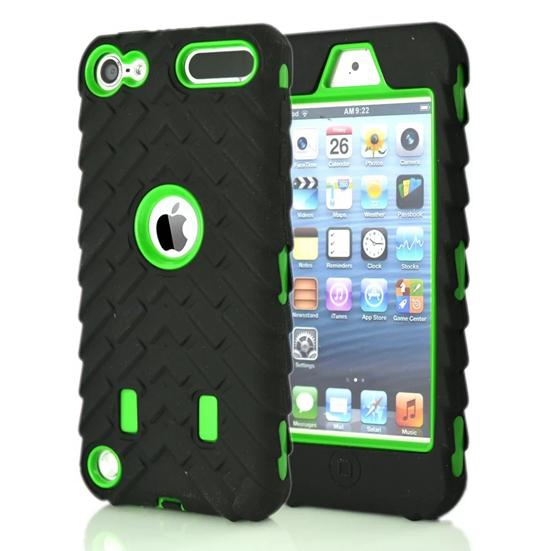 Apple Ipod Touch 5 6 Touch6 Armor Case Pneumatico Pneumatico Impatto Hard PC Gel di silicone Robot Combo Hybrid 3 in 1 Heavy Duty Dual Color skin Luxury