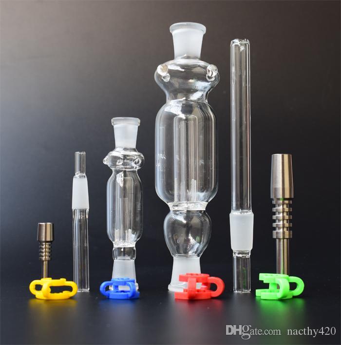 Micro NC 10 мм 14 мм Титановый Наконечник Пластиковый Кек Клип Чистый Цвет Высокое Качество для Курительных Стеклянных Бон