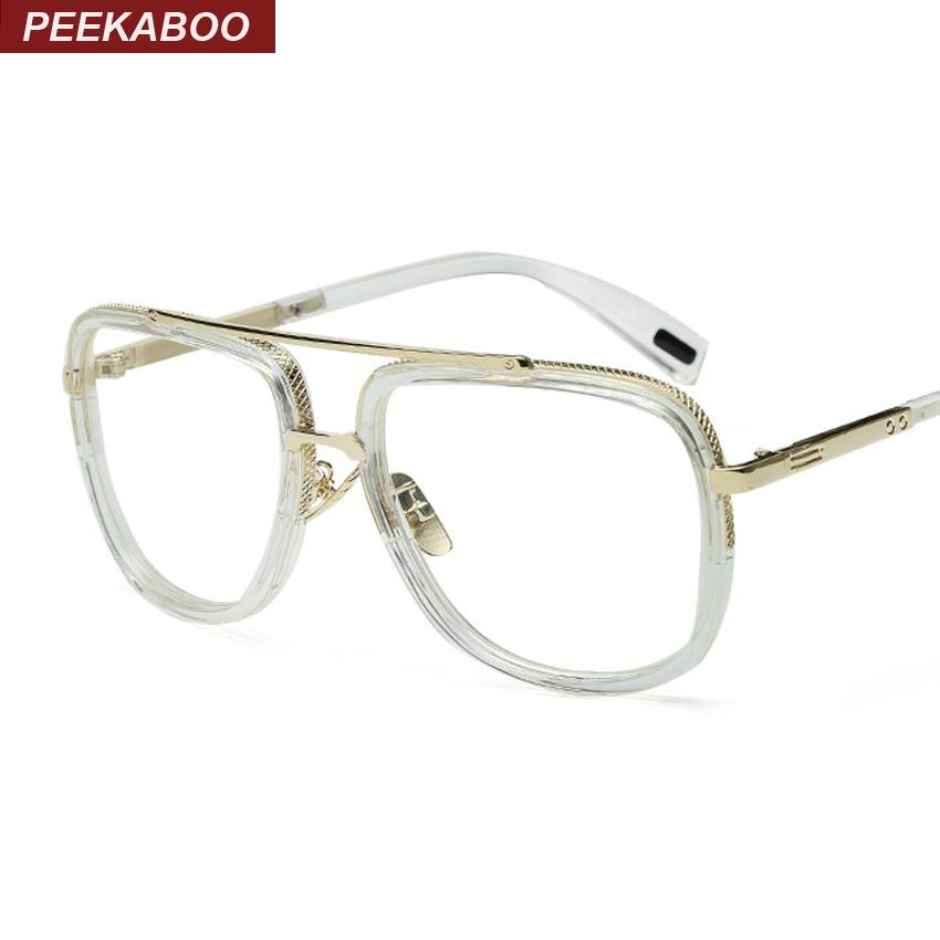 20b4a14492 Wholesale- Peekaboo New Big Square Designer Glasses Men High Quality ...