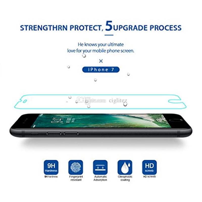 For Iphone X 8 Iphone 7 J7 Prime Tempered Glass Screen Protectors For Iphone X Edition 2.5D Explosion Shatter Screen Protector Film In box