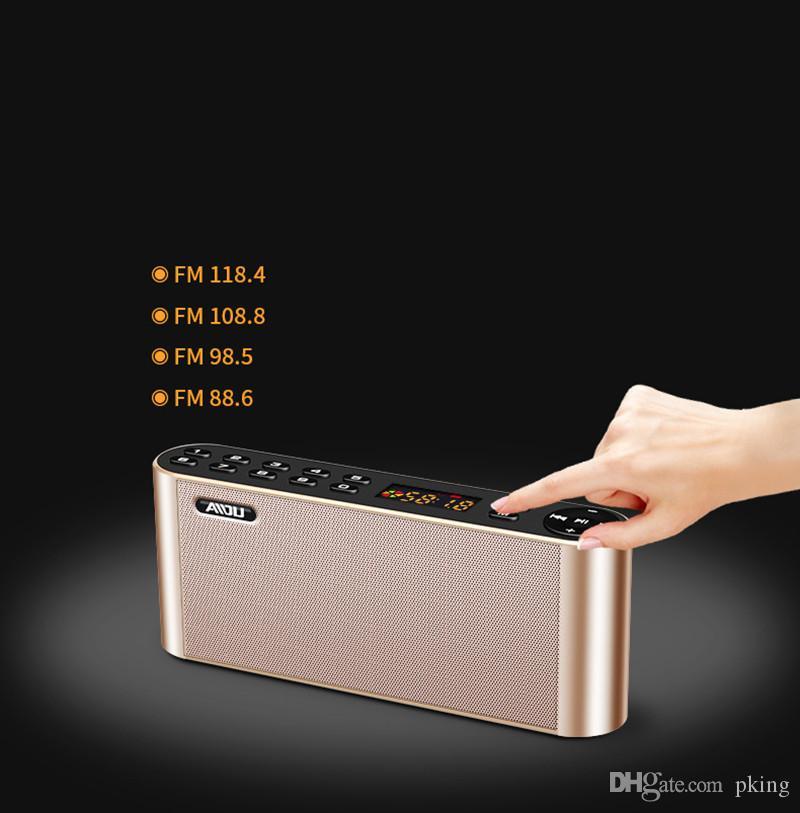 Q8 Bluetooth Haut-parleurs Portable Stéréo Support Extérieur Extérieure Micro SD TF Appel Mains Libres Lecteur Mp3 pour Téléphone