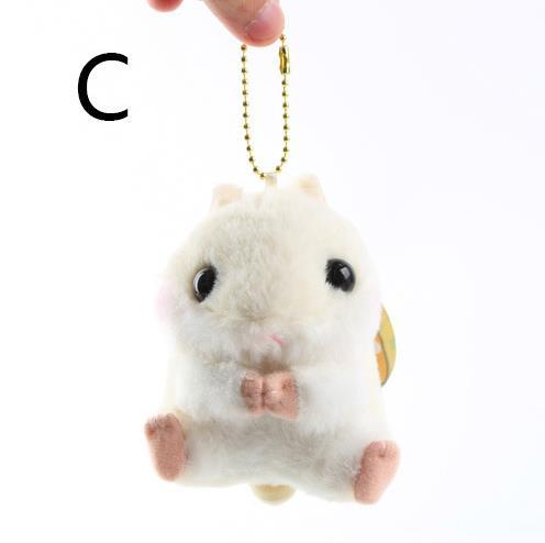 Japanese adorable baby Amuse, small hamster, Guinea Pig Plush beads chain pendant, hamster girl cute doll